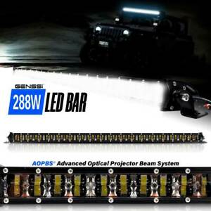 288w 50 Inch Led Slim Low Profile Series Light Bar Spot Beam For Off Road