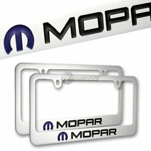 2pcs Dodge Mopar Chrome Plated Brass License Plate Frame Hand Painted Engraved