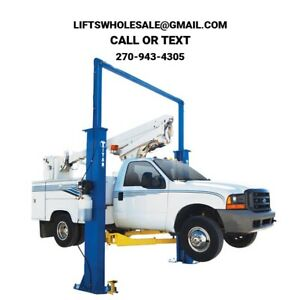New Titan 15 000 Lbs 2 post Auto Lift Clearfloor Model With Symmetric Arms