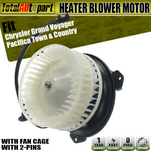 Front Blower Heater Motor W Fan Cage For Chrysler Town Country Grand Caravan
