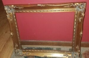 Stunning Vintage French Provincial Gold Ornate Picture Frame Mexico 17 5 X14 5