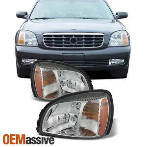 For 2000 2005 Cadillac Deville Oe Style Headlights Left right Pair W Amber Side