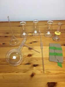 Pyrex Lab Glassware 8 Pieces