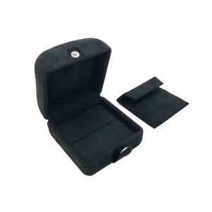Ring Box High Quality Suede Ring Earring Box Packed In Luxurious Outer Box