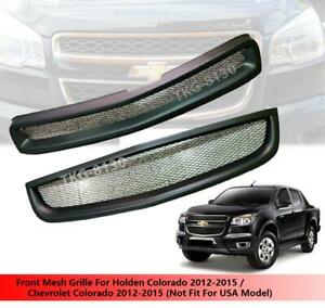 Black Front Mesh Grille Grill For Chevrolet Colorado 2012 2013 2014 2015