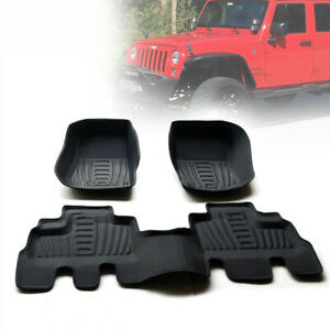 Floor Mat For 2014 Up Jeep Wrangler Unlimited Sahara Rubicon Sport 4door 3 6l V6