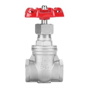 Dn20 Stainless Steel Gate Valve Bspp G3 4 Rotary Sluice Valve For Water Oil