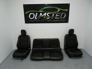 10 15 Camaro Ss Front Rear Driver Passenger Power Leather Seats Ebony Gm