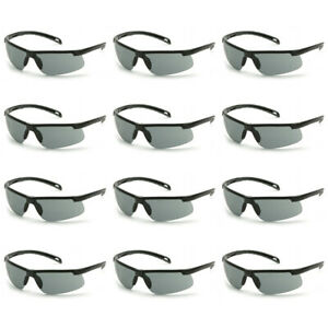 Pyramex Ever lite Safety Glasses With Gray H2max Anti fog Lens 12 Pack