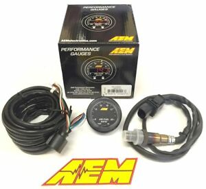 Aem X Series Wideband Air Fuel Sensor Controller Gauge A F Af Ratio Uego Afr Ob