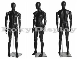 Male Mannequin Dress Form Display With Flexible Head Arms And Legs mz hm01bkeg