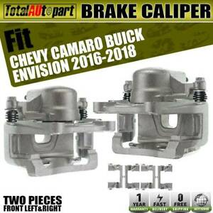 2x Brake Caliper Phenolic Piston W Bracket Front For Chevy Camaro Buick Envision
