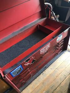 Vintage Snap On Tools 6 Drawer Tool Box Top Chest Red Industrial Heavy