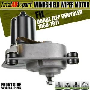 Windshield Wiper Motor W Owasherpump Front For Dodge Chrysler Plymouth 2770090