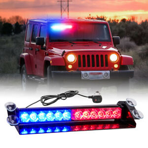 Led Emergency Warning Lights Red blue Flashing Strobe Light Bar Traffic Advisor