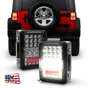 For Jeep Wrangler Jk Jku 2007 18 Brightest 60w Osram Led Tail Lights Rear Lamps