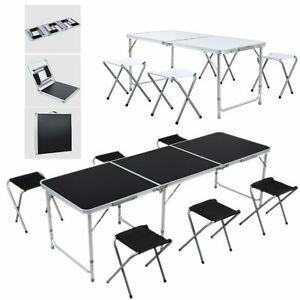4 6 Ft Folding Folding Table Indoor outdoor Picnic Camping Picnic Aluminum Desk