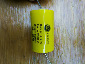Ge 42l3332 Capacitor 33ufd 2000v Lot Of 50 Caps Used For Tesla Coil