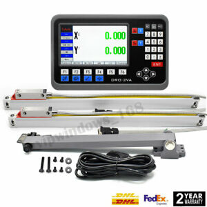 12 40 Linear Scales 2axis Digital Readout Lcd Dro Display 5 m Cnc Kit us