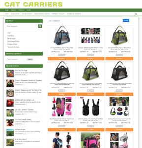 Cat Carrier Website Business Fully Stocked New Domain 1 Years Hosting