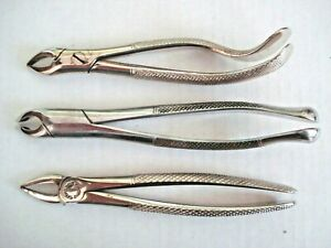 Dental Extraction Forceps Surgical Tooth Vtg Steel Tool instrument Lot Usa Uk