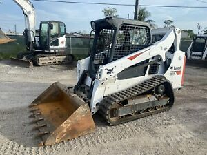 2017 Bobcat T590 Skid Steer Open Cab Selectable Joysticks Aux Hydraulics
