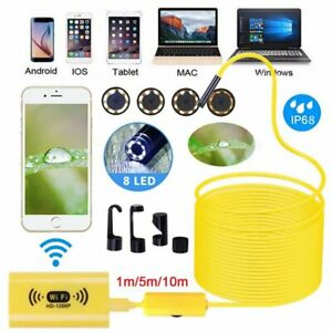 10m Wireless Endoscope Wifi Borescope Inspection Camera For Iphone Android New