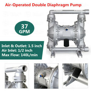 Air operated Diaphragm Pump Double 1 5 Inch Inlet Outlet 37gpm Petroleum Fluid
