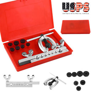 Brake Air Line Double Flaring Tool Set 7 Dies Double Tube Flaring Tool Kit
