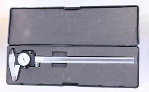 White Face Dial Caliper 0 12 Stainless Shock Proof In Case G9258