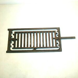 Antique Cast Iron Wood Coal Cook Stove Grate W Frame Heavy Solid Set Glenwood E