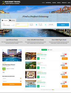 Automated Hotels Travel Website Work From Home Website Business For Sale