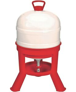 8 Gallon Automatic Gravity Fed Dome Poultry Waterer Chicken Drinker Domewtr8