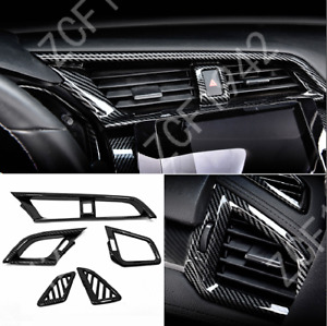 Carbon Fiber Abs Dashboard Air Vent Cover Case For Honda Civic 10th 2016 2020