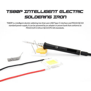 Ts80p 30w Oled Soldering Iron Adjustable Temperature Pd2 0 Qc3 0 Power Supply