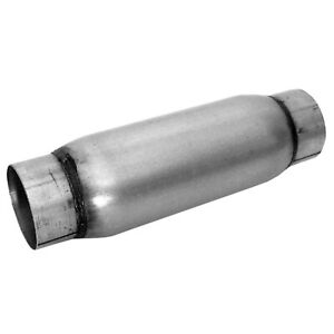 Dynomax 24246 Race Series Bullet Muffler 4 X 12 Inlet 2 5 In Outlet 2 5 In