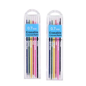 5boxes 0 7mm Colored Mechanical Pencils Refill Lead Erasable Student H wuhadl