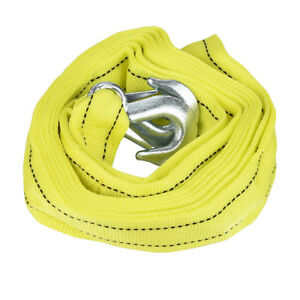 3 Tons Car Tow Cable Towing Strap Rope W 2 Hooks Heavy Duty 10ft 6000lb New