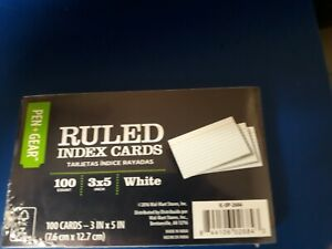 Pen gear Ruled Index Cards 100 Count 3x5 White Lot Of 3