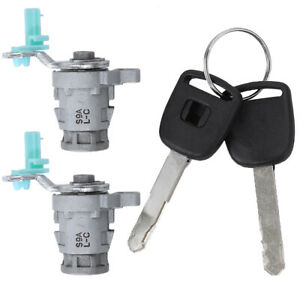 Door Lock Cylinder Front Set Kit Fit For Honda Accord Civic Odyssey With Keys