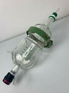 Complete Chemglass 500 Ml Glass Reactor Jacketed Reaction Vessel Great