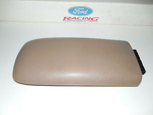 95 01 Ford Explorer Center Console Arm Rest Pad Cover Lid W Bracket Tan Oem