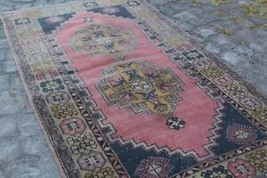 Vintage Turkish Oushak Area Rug Anatolian Wool Rug Antique Carpet 3 6x6 6 Ft Br