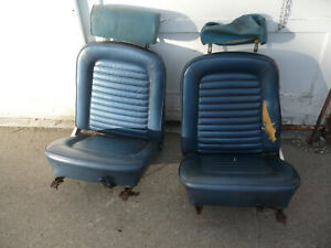 1965 67 Mustang Bucket Seats Blue