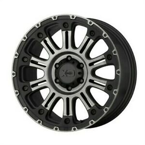 4 New 20x12 Xd Hoss 2 Satin Black Machined W Gray Tint Wheel rim 8x170 Et 44
