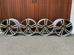20 Porsche Panamera Turbo Ii Wheels Staggered Factory Oem