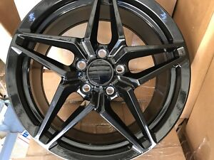 C8 Corvette Wheels Zr1 Black Carbon 19 20 Flow Forged