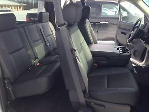 2010 2011 Chevrolet Silverado Ext Cab Black Katzkin Leather Interior Seat Cover