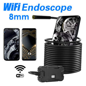 Wifi Endoscope Borescope Wireless Inspection Camera 1080p With 8 Led Lights