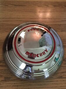 1939 Mercury Ford Stainless Steel Wheel Cover Hub Cap Rare Awesome